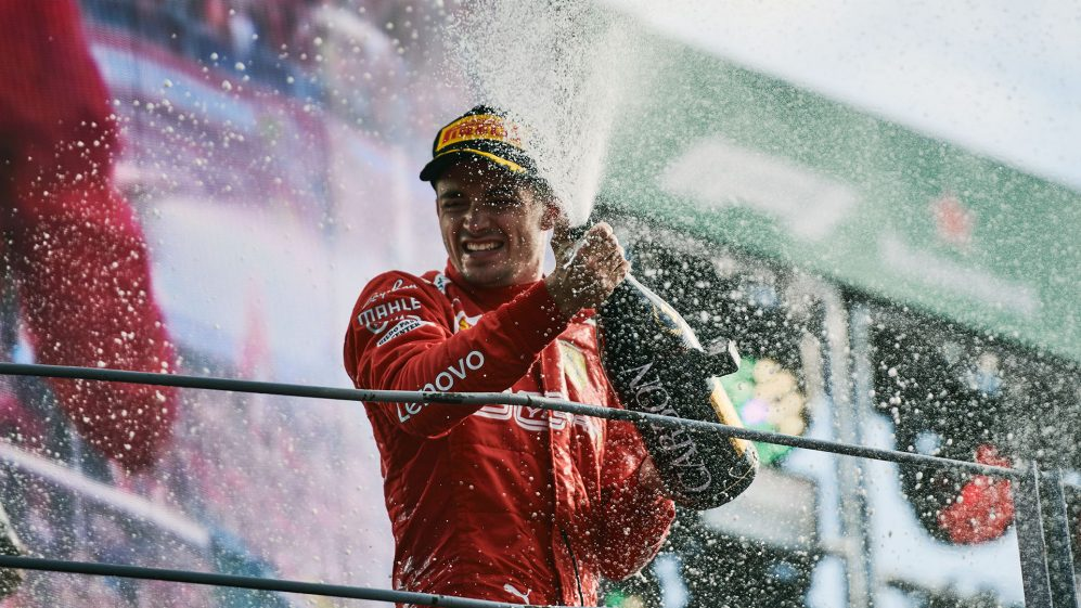 Leclerc conquistou uma vitória inesquecível em Monza em 2019