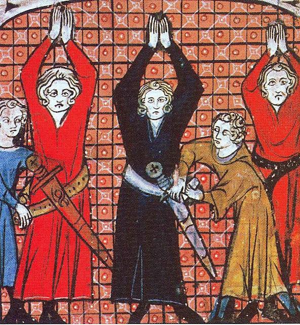 Cavaleiros sendo cingidos com a espada.