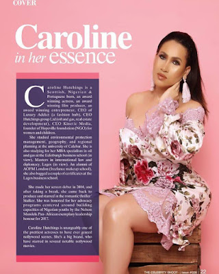 Caroline Danjuma is coverstar for celebrityshoot magazine