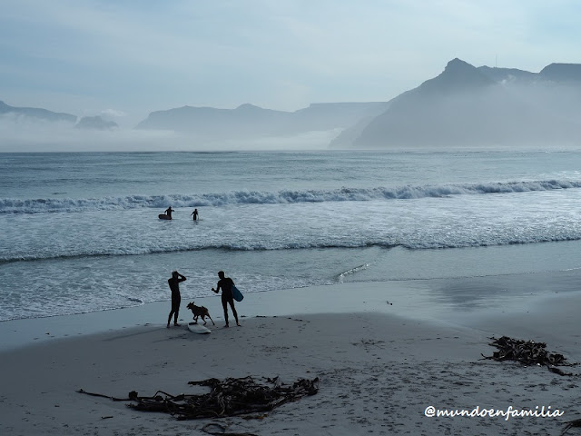 Surfistas en la Península del Cabo
