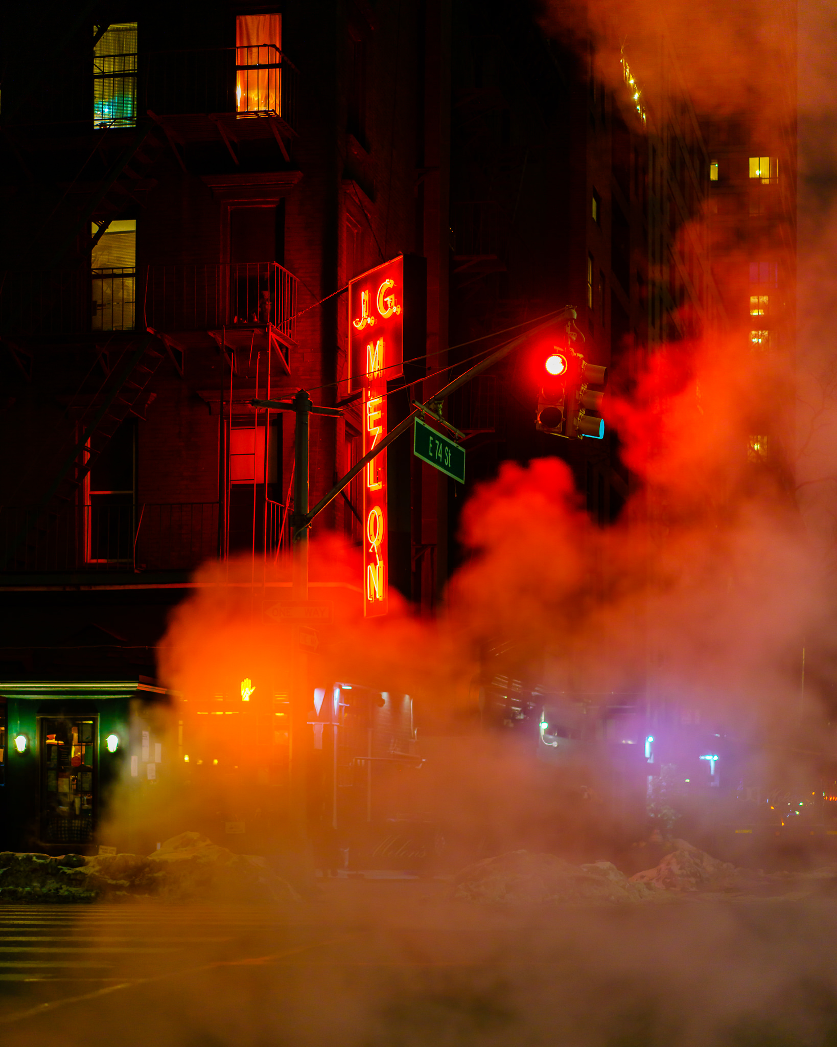 a photo of new york city on a steamy night
