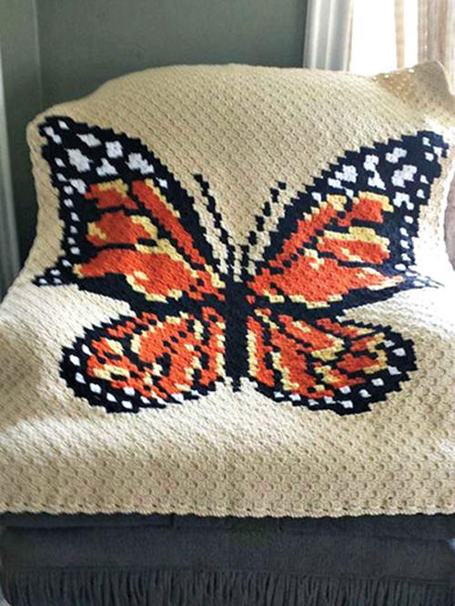 C2C Butterfly Afghan - Crochet Pattern