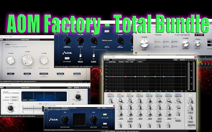 AOM Factory - Total Bundle 1.9.6 VST / VST3 / AAX / AU x86 x64 (WIN / OSX)