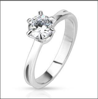Image shows OoohShiny Things Cubic Zirconia Engagement Ring Link opens in a new Tab