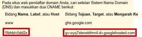 mengatur dan merubah custom domain rumahweb di blogger atau blogspot