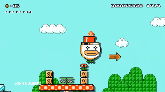 Super Mario Maker Bros. 3 8-bit Fire Kuribo's Shoe Boot Koopa Clown Car