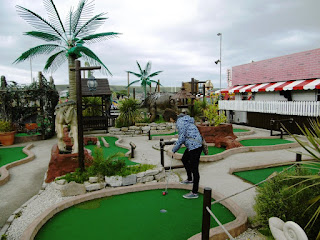Jurassic Adventure Mini Golf course in Swanage, Dorset