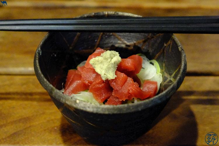 Natto au sashimi de thon - Restaurant Ukyo à Tokyo -Séjour au Japon
