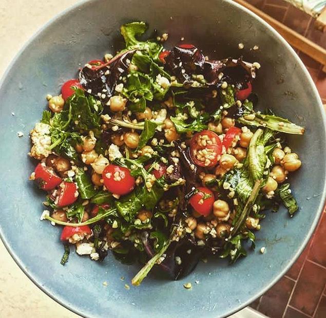 Salade healthy de boulgour aux pois chiches