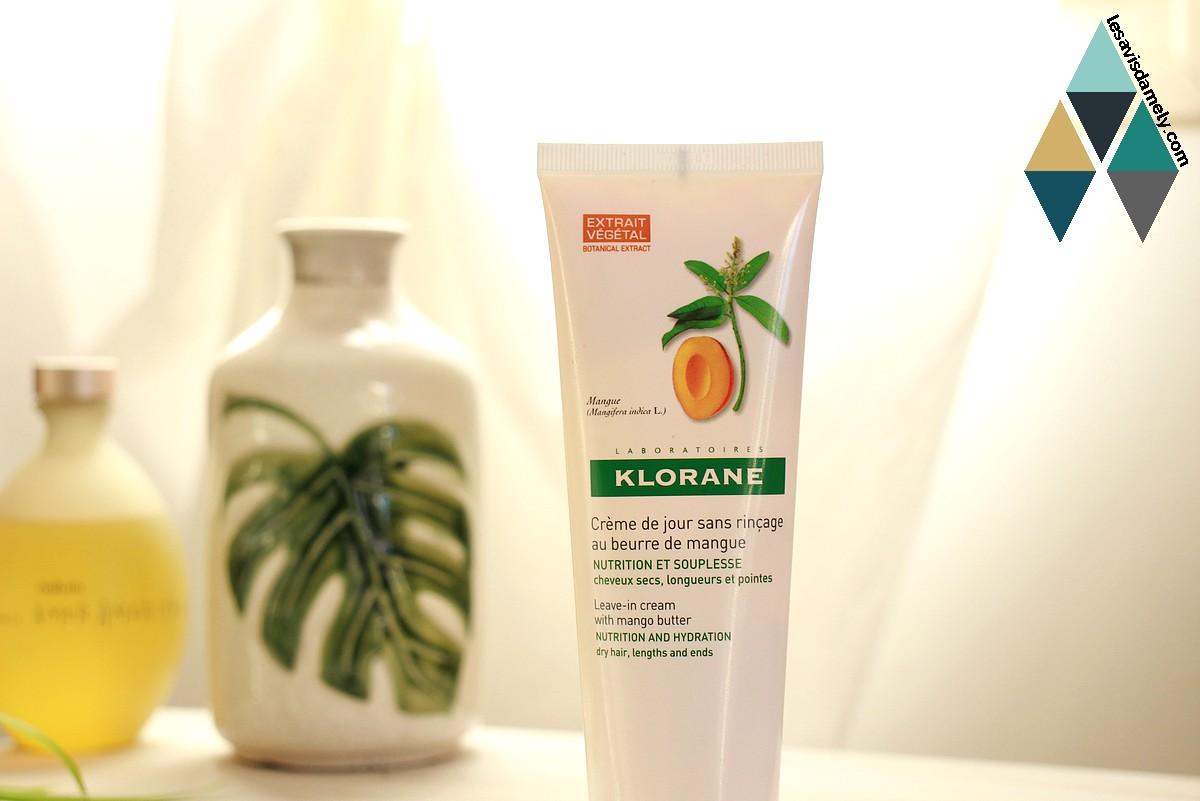 avis et test crème de jour sans rinçage cheveux secs et abîmés Klorane