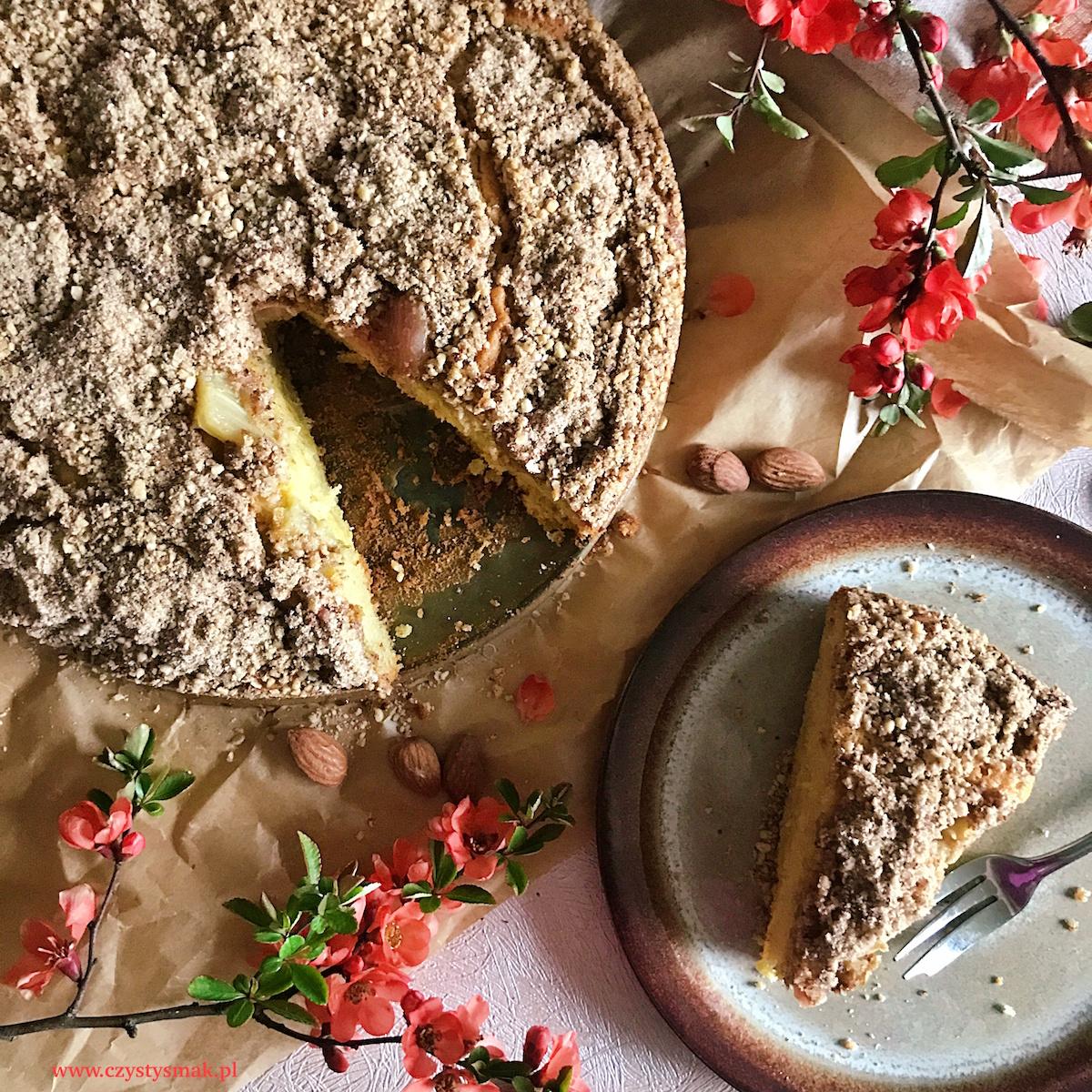Ciasto z migdałową skorupką