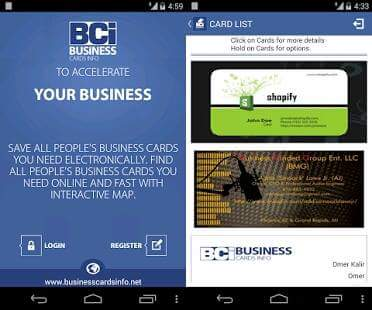 Best free business card scanner apps for android androidleo business card reader android reheart Images