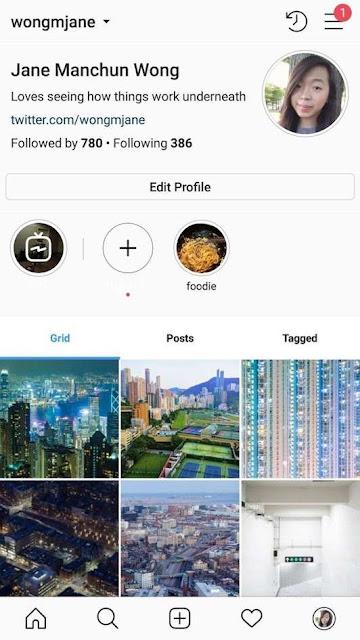 Instagram: Perfis em fase de testes.