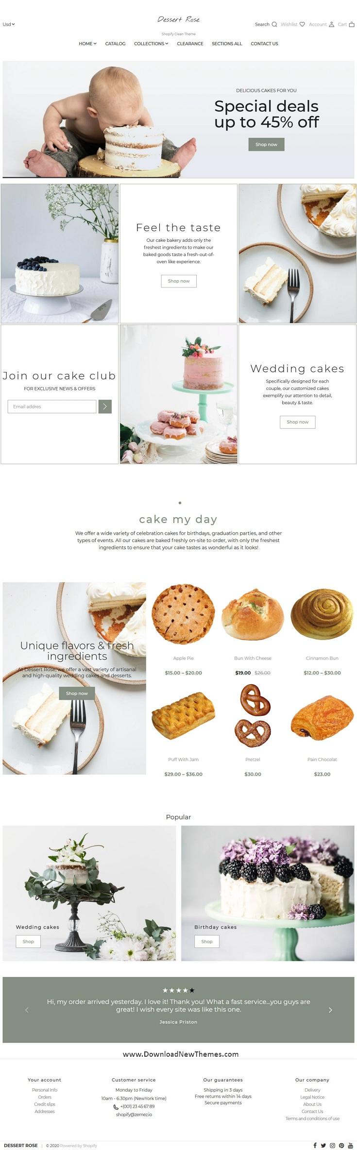 Responsive Cake Shop Shopify Theme