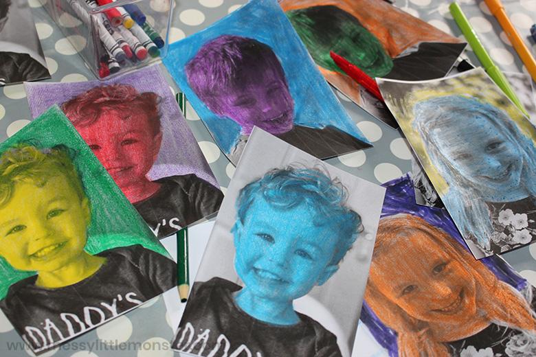 Famous artist pop art for kids