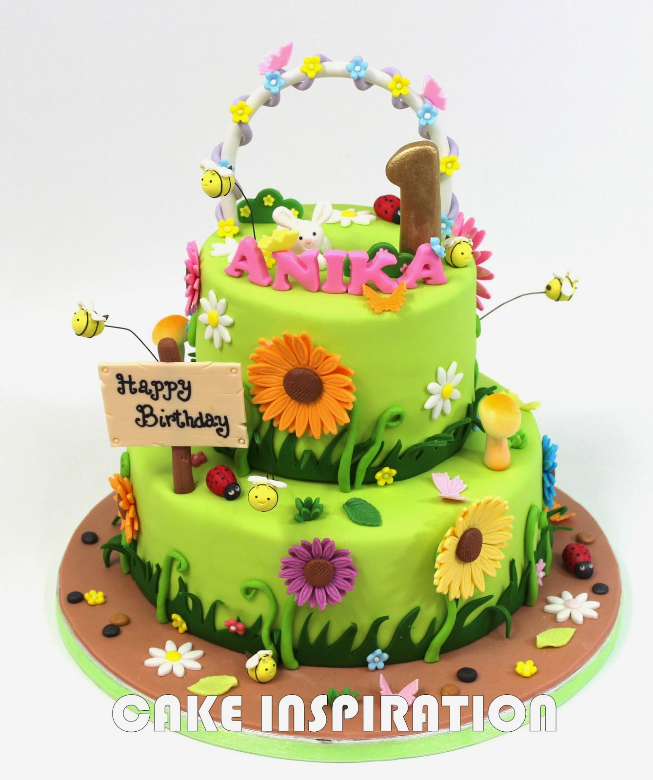 The Sensational Cakes Sweet Garden Theme Flower Cake Singapore