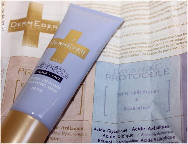 Masque Exfoliant Detox Dermeden - Blog beauté Les Mousquetettes©