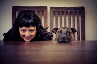 Ruth O'Leary from Ruthless Photos and her dog