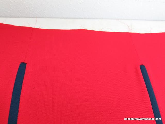 delantero falda con aplicaciones