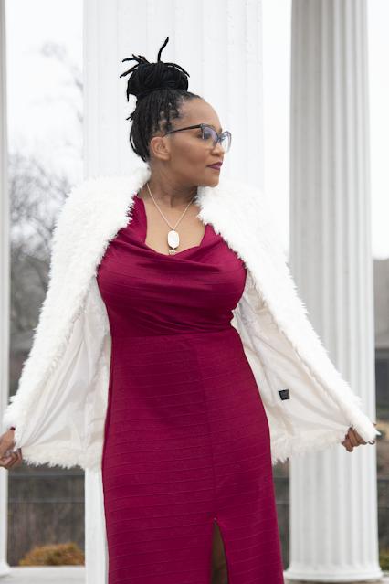 V-day Ribbed Knit Dress