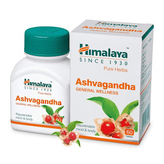 Himalaya Ashwagandha Pure Herbs General Wellness Tablets - 60 Count