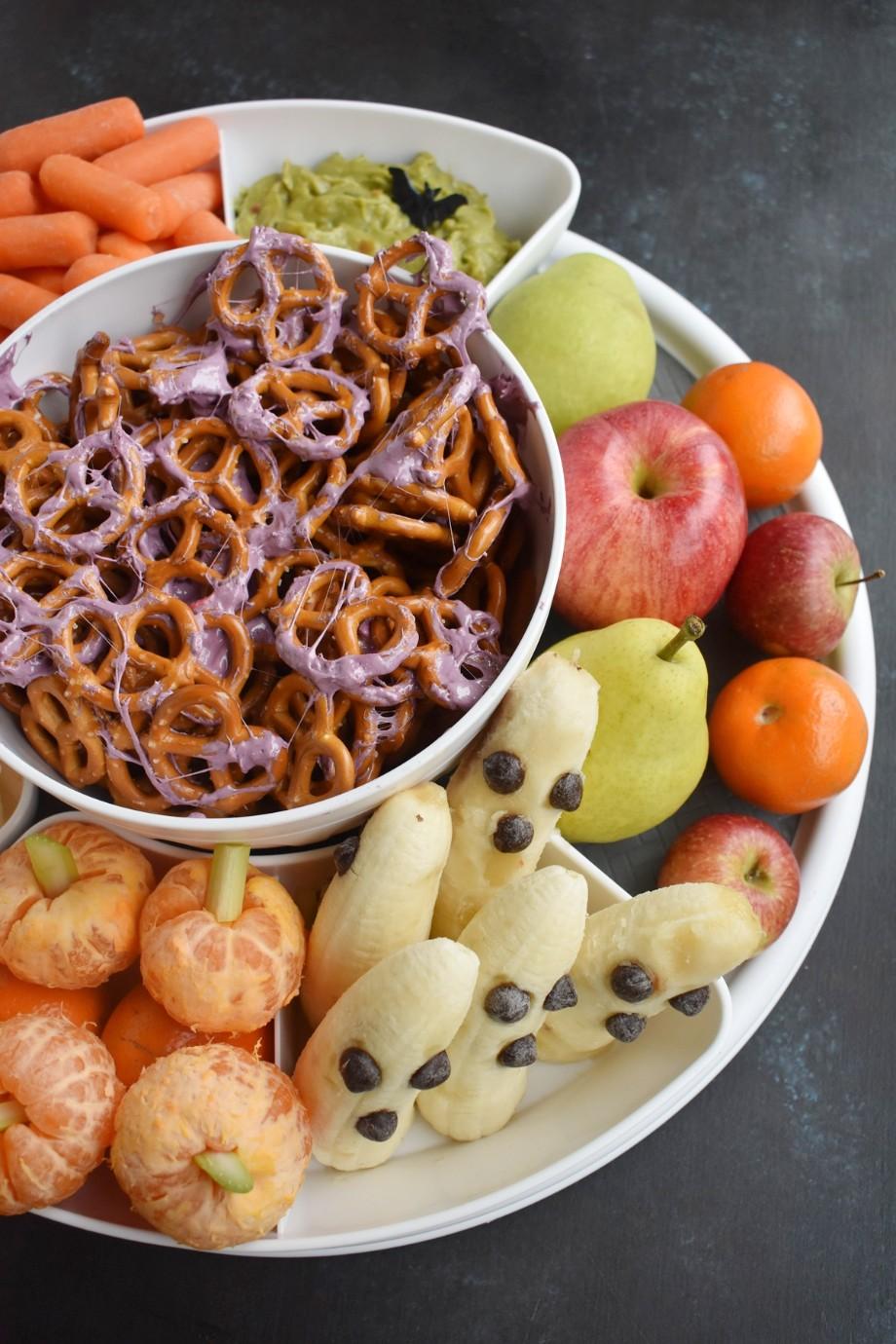Healthier Halloween Snack Board