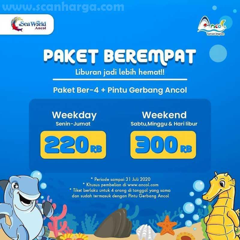 Promo Ancol PAKET BER-4 + Pintu Gerbang Ancol harga mulai Rp 200 Ribuan! 2