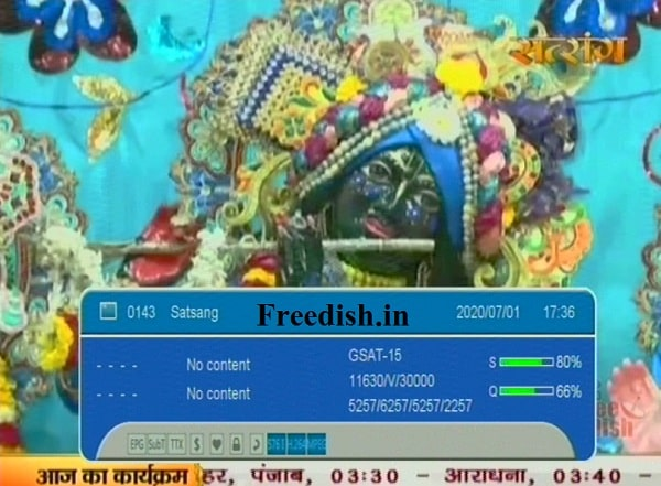 Satsang TV frequency, Satsang TV channel number, Satsang TV on dd free dish watch live