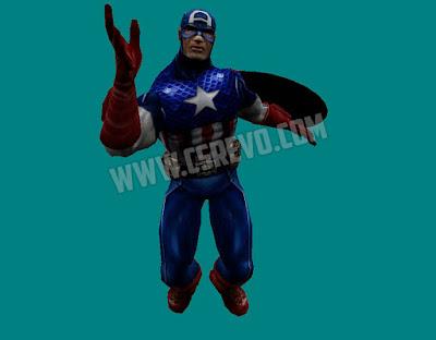 Skin Player - Capitão America HD - CS 1.6, capitain american