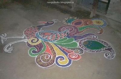 top 100 Peacock Rangolis