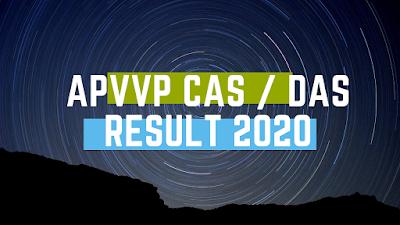 APVVP CAS  DAS Result 2020