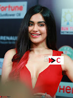 Adah Sharma in Red Deep Neck Spicy Gown ~  Exclusive 22.jpg