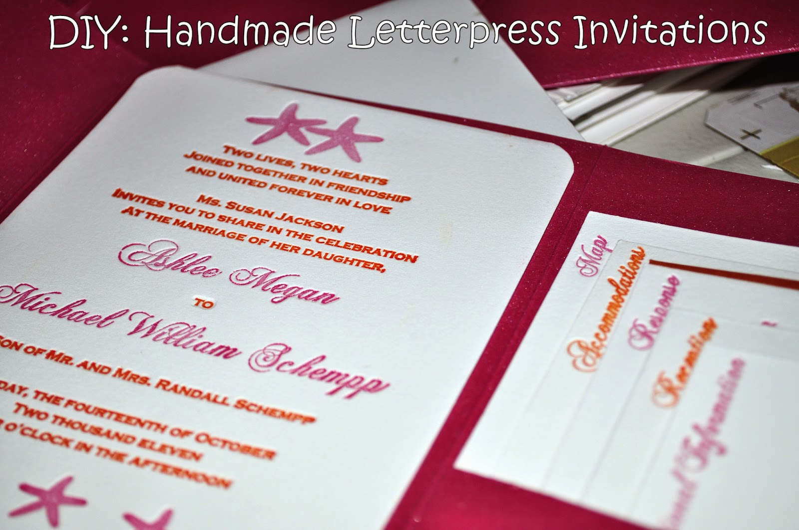 Wedding Invites Letterpress: The Glitter Mouse: DIY: Handmade Letterpress Wedding