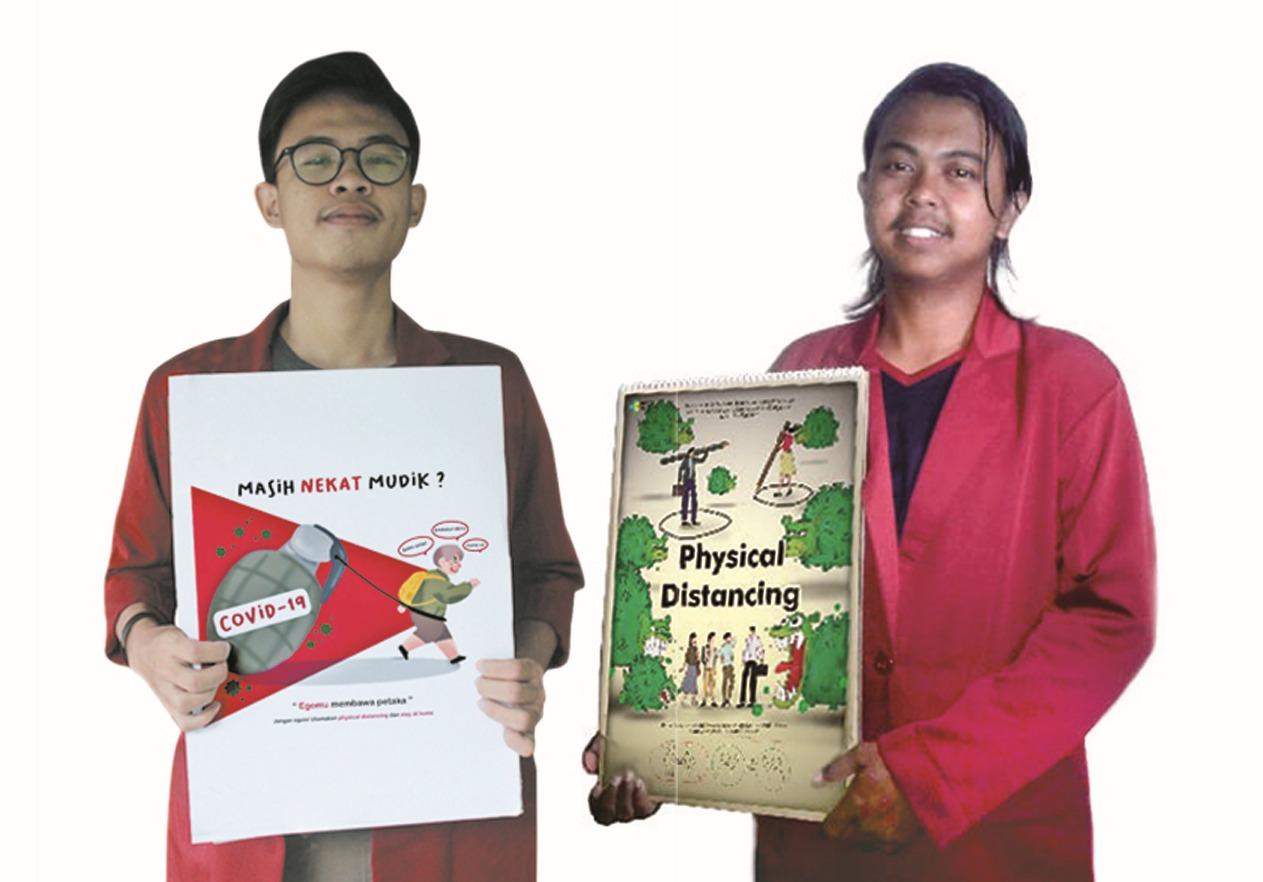 Angkat Tema Ini. Dua Mahasiswa ISI Surakarta Juarai Lomba Desain Poster Edukatif Tingkat Nasional
