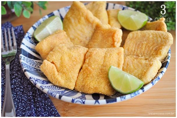 peixe frito no fubá
