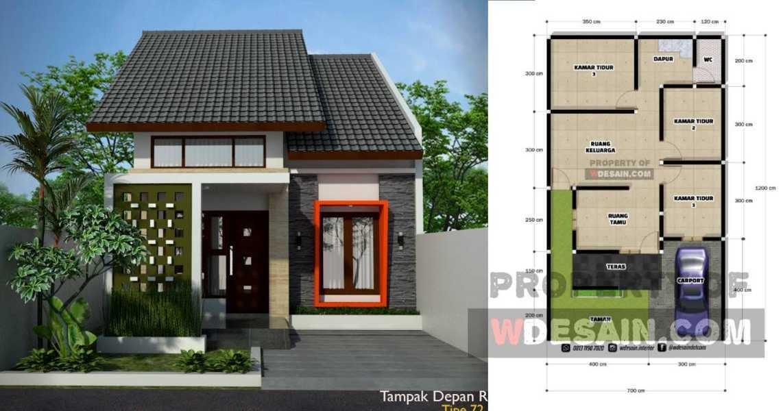 Desain Rumah Minimalis 7x12 3 Kamar Tidur 1 Lantai - DESAIN RUMAH MINIMALIS