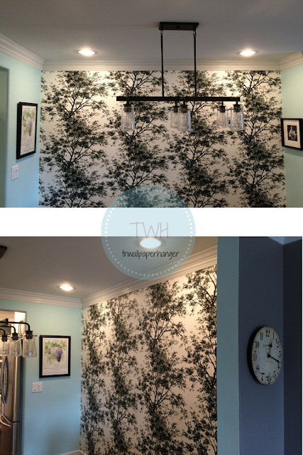 Project Dinning Room: Wallpaper from the Ashford Collection,wallpaper is in-stock in Nashville.