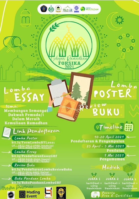 GEBYAR RAMADHAN FORSIKA Lomba Esay dan Poster