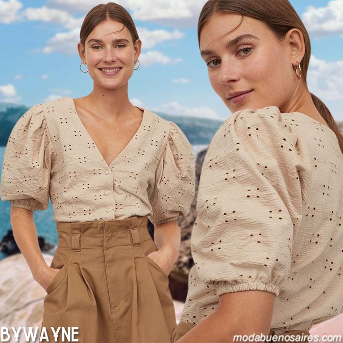 Blusas broderie primavera verano 2021 moda 2021
