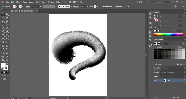 3D Fur in Adobe Illustrator