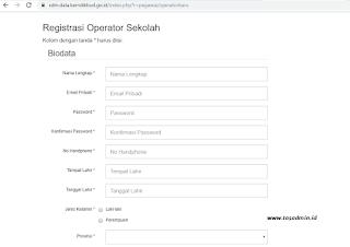 registrasi akun sdm data kemdikbud