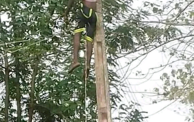 Sad! 26-year-old man electrocuted while reconnecting electricity cable in Benue (photos)