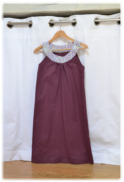 robe tunique violette et col ethnique