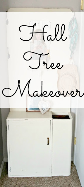 1940's hall tree makeover