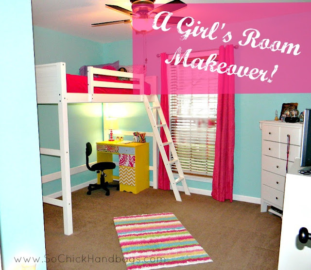 So Chick! The Blog: Girl's Room Makeover {A DIY Project}