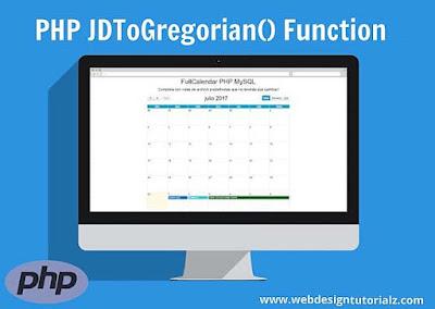 PHP jdtogregorian() Function