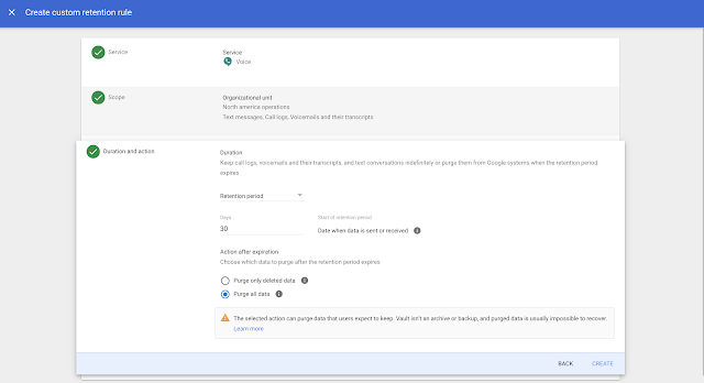 Vault for Google Voice now generally available 1