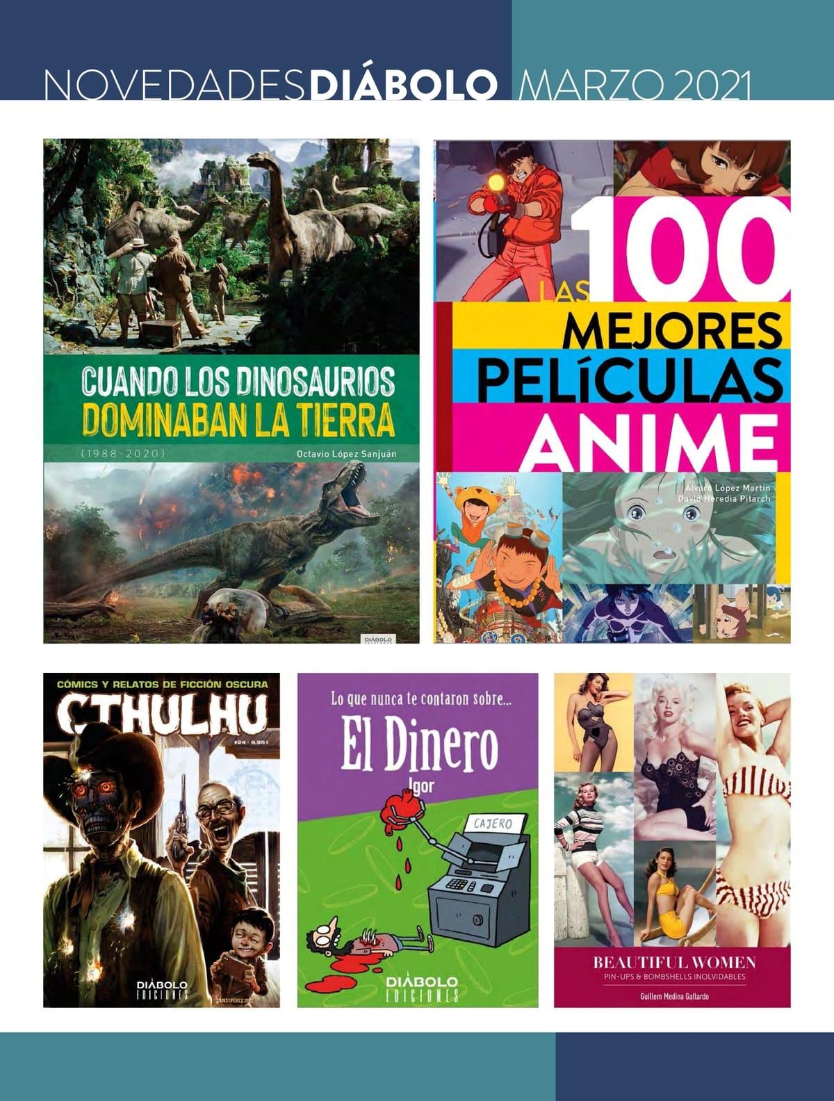 Novedades de Diábolo Ediciones para marzo de 2021