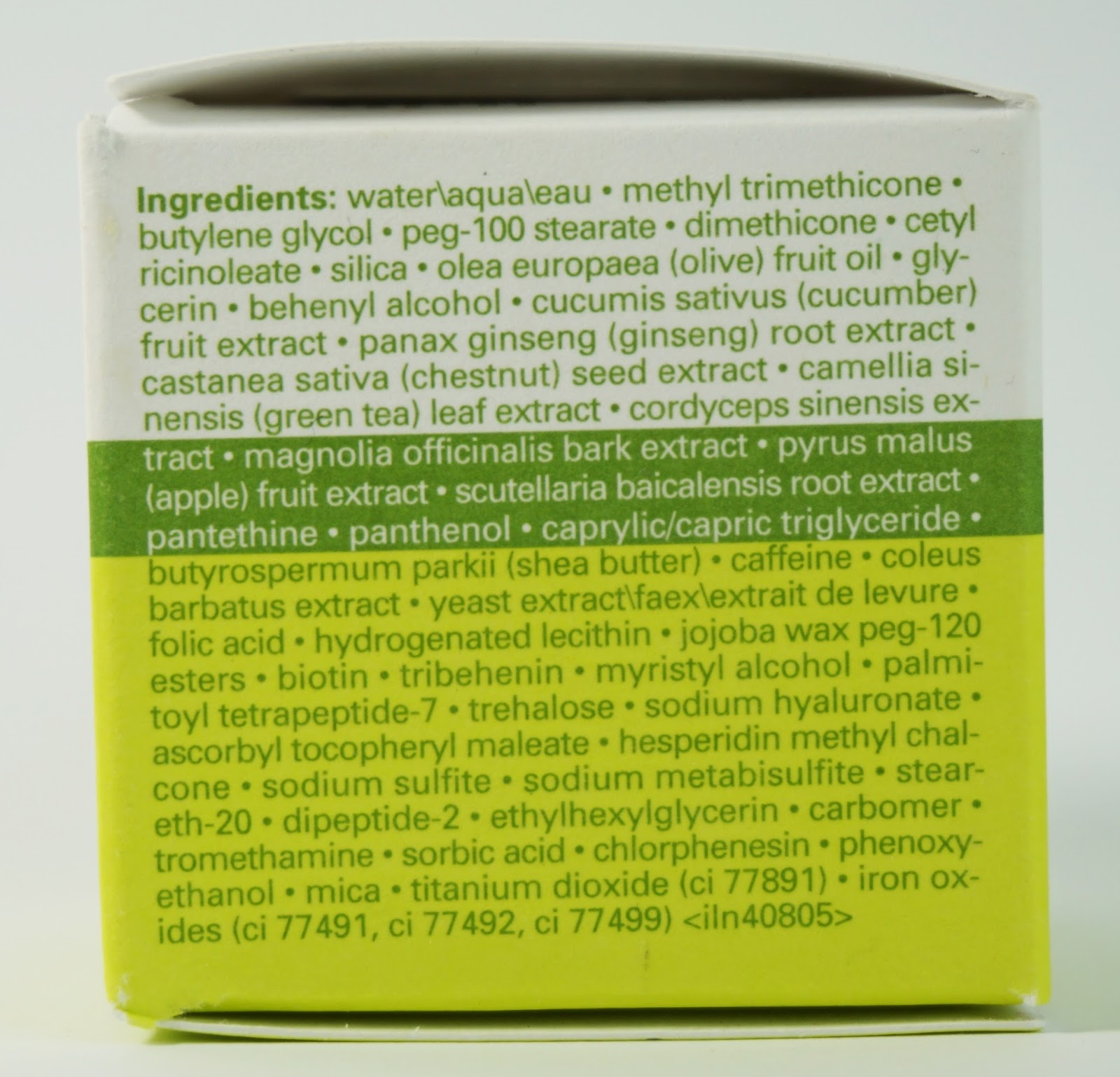 Origins - GinZing Refreshing Eye Cream (Augencreme) Ingredients Inhaltsstoffe