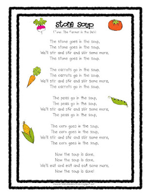 image relating to Stone Soup Story Printable titled Mrs. Albaneses Kindergarten Cl: Stone SoupFREEBIES!